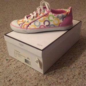 Multi color coach sneakers!